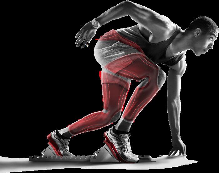 Homme avec effet gmove-suit sport