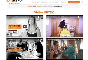 vidéos técarthérapie winback